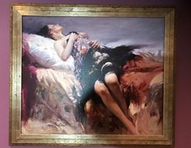 Sensuality by Pino on canvas; numbered limited edition