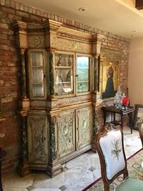 18th Century hand painted Venetian cabinet