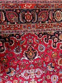 Handmade large Persian area rug