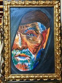 Original oil painting in canvas