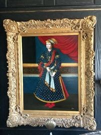 Original oil on canvas - large with baroque gold frame