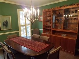 Mid-Century Style Dining Table and Chairs