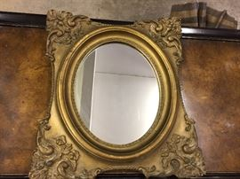Vintage Classic Mirror. Frame is carved plaster from Empire Framing,  East Avenue, Rochester NY. A real beauty!