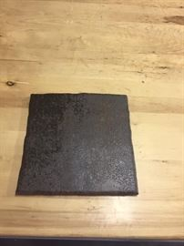 Quarry Tile- 8 x 8 tiles in first quality condition. Color dark brown. Quantity 51 tiles for $50