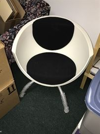 IKEA DISCONTINUED WHITE AND BLACK CHAIR