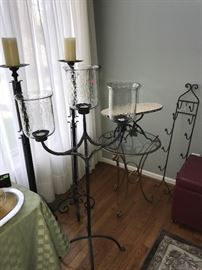 TALL AND LARGE CANDLE HOLDERS