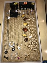 DESIGNER SIGNED JEWELRY, STERLING SILVER AND GOLD JEWELRY