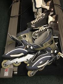 MENS ROLLERBLADES AND ICE SKATES