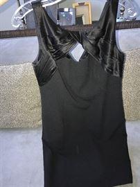 CARMEN MARC VALVO-BLACK EVENING DRESS