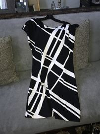 ST. JOHN KNIT BY MARIE GRAY- BLACK AND WHITE DRESS