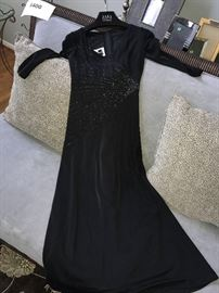 TADASHI- BLACK EVENING DRESS
