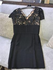 VINTAGE OSCAR DE LA RENTA BLACK DRESS