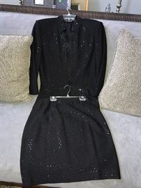 ST. JOHN KNIT BY MARIE GRAY- SEQUIN JACKET AND SKIRT