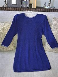 ST. JOHN KNIT BY MARIE GRAY- BLUE DRESS