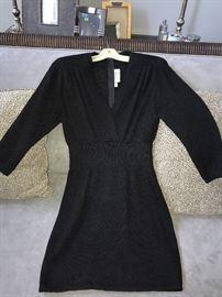VINTAGE ST. JOHN KNIT BY MARIE GRAY BLACK DRESS