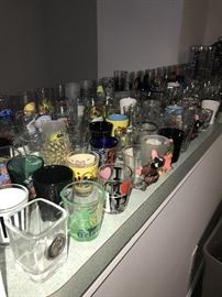 LARGE COLLECTION OF SHOT-GLASSES FROM ALL OVER THE WORLD