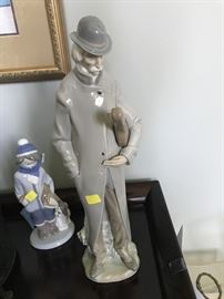 """COLLECTIBLE LLADRO FIGURINES-""""Old man with violin"""" #4622"""
