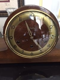 Mantle clock, time and strike