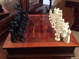 Marble pieces chess game