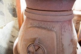 close up  Abendroth pot belly stove