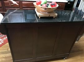 Gorgeous rolling island with black granite top