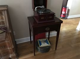 Vintage phonograph in original case