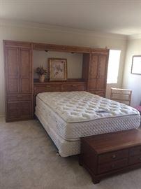 Queen Mattress Set / Storage Cabinets