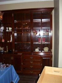 Custom built china cabinet 7 1/2' tall x 4 1/2' wide