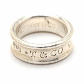 """Tiffany & Co. """"1837"""" Sterling Silver Ring: A sterling silver ring from Tiffany & Company's 1837 collection."""