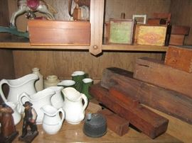 Stoneware and boxes - very old in excellent condition