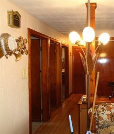 Mid Century Spring load floor lamps