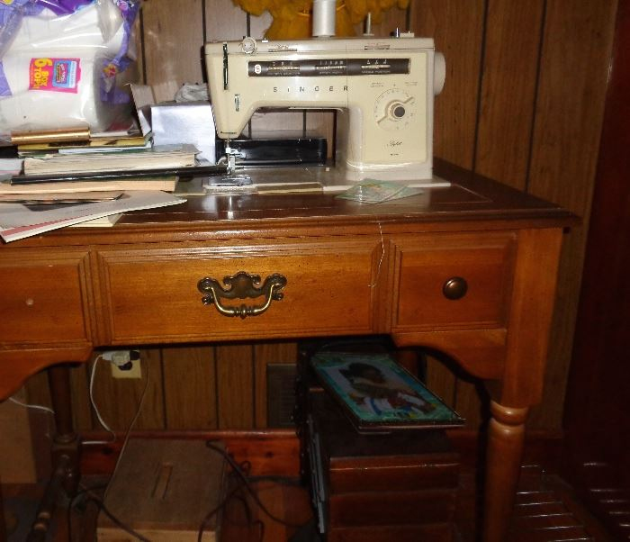 Singer antique sewing console machine