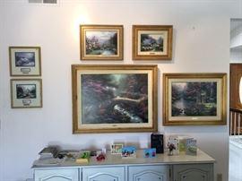 Thomas Kinkade Paintings, Signed, Original frame
