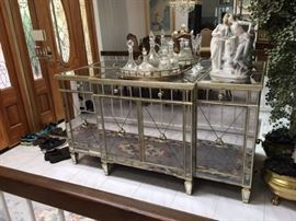 Z Gallerie Glass Buffet with Velvet lined Cabinets. Available online for $1200, asking price $900