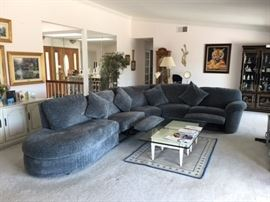 La-Z Boy Sectional, Like New Condition, two recliners.