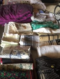 Lots of table and other linens