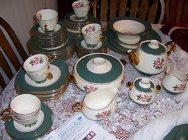 Homer Laughlin China, service for 12 plus serving pieces.