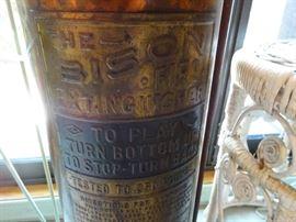 Bison vintage fire extinquisher