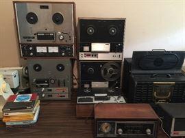 Pro Audio, Reel to Reels, Antique Radios, Teak, Akia.