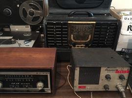 Antique Sony and Zenith Radios.