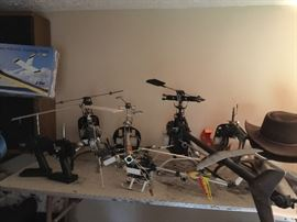 Large Helecopters 4'  - Two New