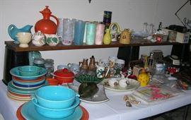 Old Fiesta Ware, cool retro glassware, retro Haeger items, more.