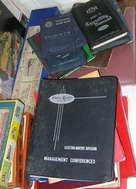 General Motors Electro-Motive binders, manuals, etc.