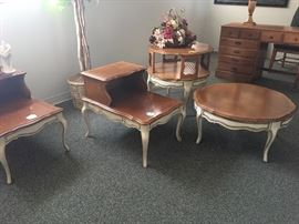 matching end tables, coffee table and accent tables