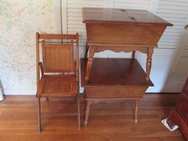 Colonial End Tables, Side chair