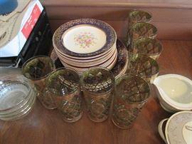 50s Glassware, Vintage China