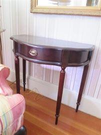 Antique Demi Loon Mahogany Table