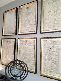 High-end prints of Inventory (written in French) on Scrolls - $200 each print