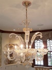 Fantastic six arm Murano crystal chandelier - price available upon request