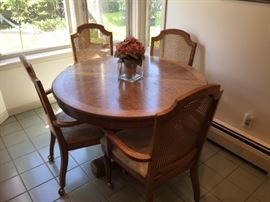 Nice table with caned chairs